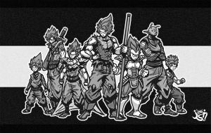 Zwarriors BW by jinkyjsn