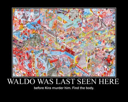 Wheres Waldo and Death Note by MapleLuver1