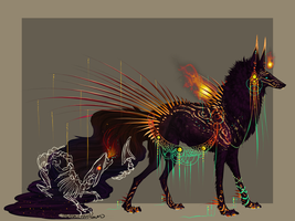QuillDog Design: Dragon's Dying Fire (CLOSED) by MischievousRaven