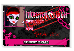 MH OC-Blanche Juice School ID by Bj-Lydia
