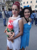 Wilma and Betty (The Flintsones)-Lucca Comics 2013 by Groucho91