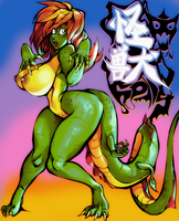 Kaiju Girl Holly by EvilEyeXYZ