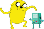Jake and BMO(Bemoo) Dancing by The3javi