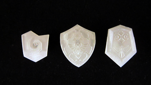 3D Printed LEGO Ocarina of Time Shields by mingles