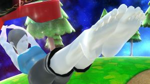 SSB4 Wii U Fit Soles Screenshot by Theahj90