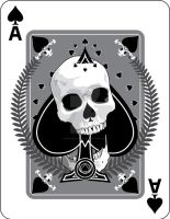 Skulled Ace of Spades by crackmatrix