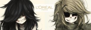 Creepy L'OREALS (wallpaper) by Witequeen