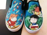 WIP Canvas Ponyo Shoes by hidden-kitten
