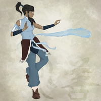 Korra Bending (final) by seyrii