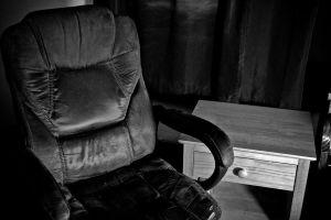 Black-and-White Picture of a Chair by Valentine-Photo