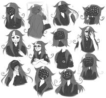 Persona Sketch Dump by DrawKill