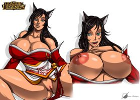 Commission: Ahri Nude by Osmar-Shotgun