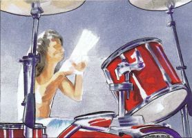 Dave Grohl sketch card by artofmadness