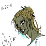 my orc in SKYRIM by beaver92