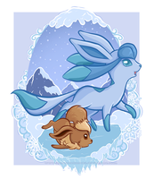 Eevee Evolutions - Glaceon by ImmortalTanuki