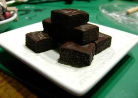 Fudge Brownies - Miniatures by SnowBunnyStudios