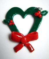 Christmas Wreath Heart by SarahRose