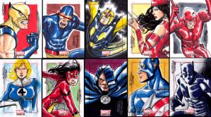 Marvel Bronze Age sketchcards by MarcFerreira