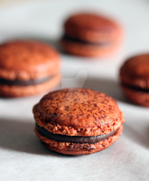 Nutella Macarons by munchinees