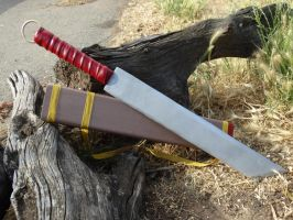 Ashitaka Sword and Scabbard by meanlilkitty