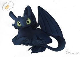 How To Train Your Dragon: Night Fury by SimonTheFox1