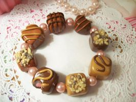 Chocolate Truffle Bracelet by lessthan3chrissy