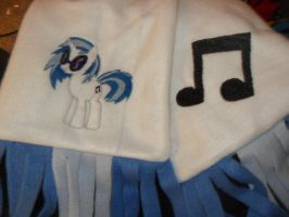 Vinyl Scratch / DJ Pon-3 Fleece Scarf by Dark-Sith-Angel