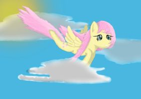 FLuttershy in the clouds by Captaintriangle