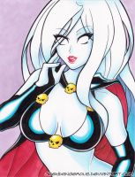 Lady Death marker pin up by JoeOiii