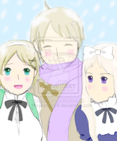 Kievan Siblings: Ukraine, Russia, and Belarus by Maskedgirl24