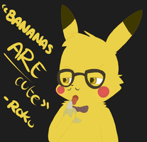 Hipster Pikachu by LetsFallTogether