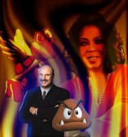 Dr. Phil and Bean by Iron-KoolaidMan