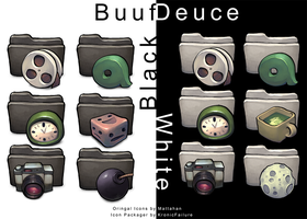 Black and White Buuf Deuce IP by KronicFailure