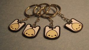 Adventure Time Keychain: Finn by KungPaoThao