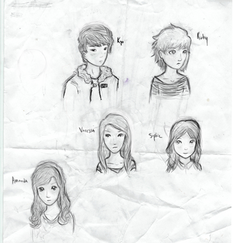 GF Characters- Rough Sketch by WilltheWhale