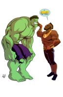 Hulk vs Mr T- Commission by RickCelis
