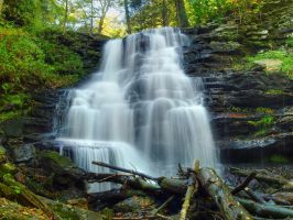 Ricketts Glen State Park 58 by Dracoart-Stock