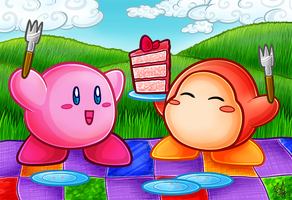 Kirby Cake Time by DreaTheRobot