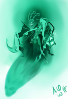 Kalista and Thresh by F1r3lectrical