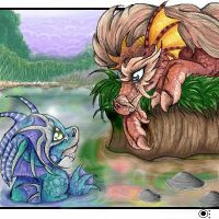 dragons of land and water by omi-chan