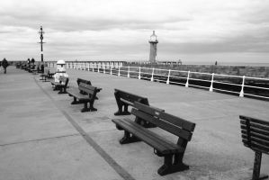Whitby Pier by astrogoth13