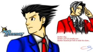 Ace Attorney wallpaper by GZLTriforce128