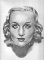 Carole Lombard by Karentownsend