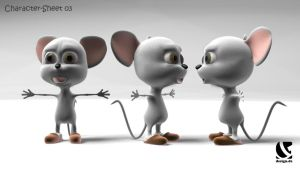 WIP - the little cute mouse by B3Ns