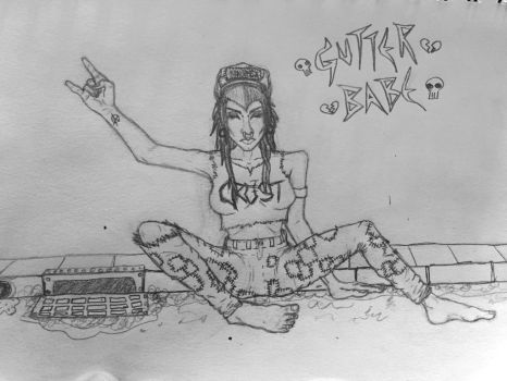 Gutter Babe by dumpster-child