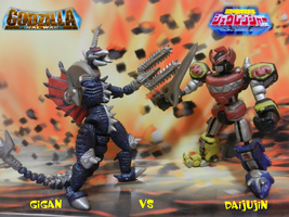 GIGAN VS MEGAZORD by mayozilla
