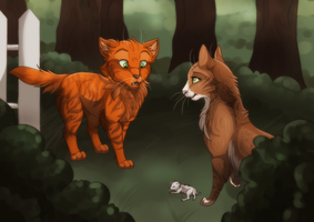 [CONTEST] And Fireheart met his nephew by Phoenix-Brul-Plum