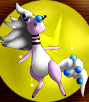 meet MY mega-ampharos by TheTimeLordMarshal