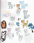Doodles: Pokemon And Tigers by elisonic12