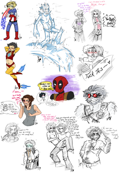 Marvel Sketch Dump 27 by Squidbiscuit